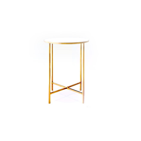 Gold Marble Side Table