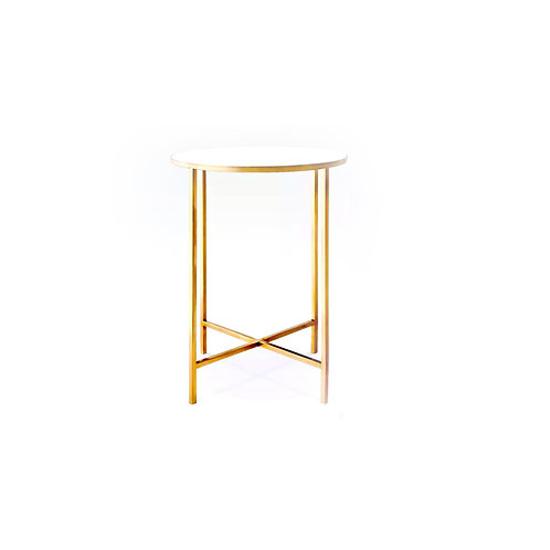 Vendor Gold Marble Top Side Table