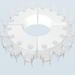 16 Seater Round Dining Table