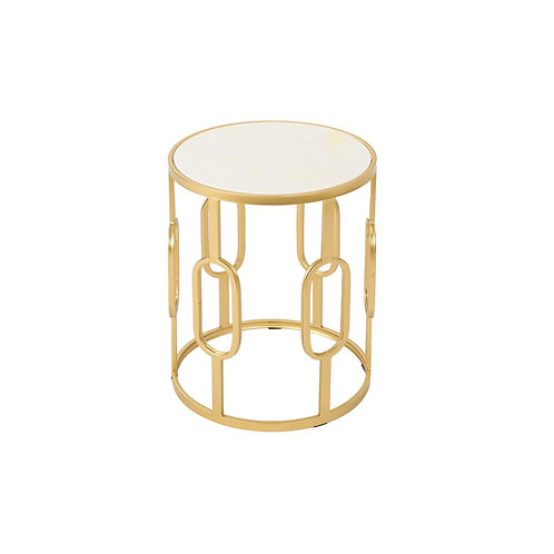 Gold Glam Side Table