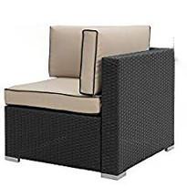Dimahche Black Outdoor Corner Lounge