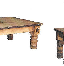 3pc Table Set With Iron And Star 599