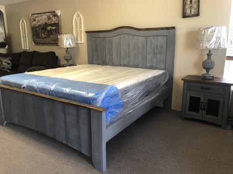 King Grey Barndoor bed $2100.00