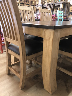 Old World Rustic off White 6ft table leg