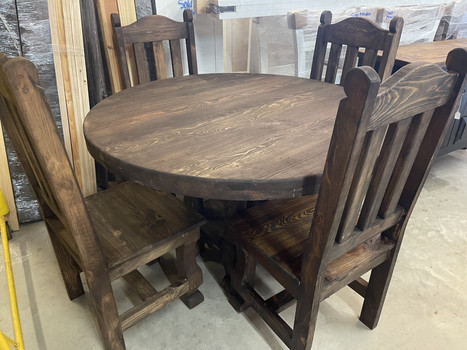 Gerardo 46' Round Table and 4 chairs $1100.00