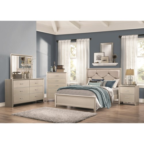 Full Lana Silver Bed collection by coaster