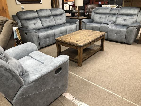Mariana Recling Grey Sofa Set $2200