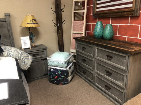 Grey farmhouse  Dresser 1 Nightstand