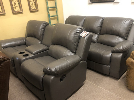 FOA Grey Reclining Sofa set $1399.00