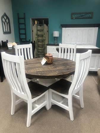 48' Round Distressed Pedastal Table