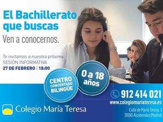 Bachillerato: sesión informativa martes 27 de febrero