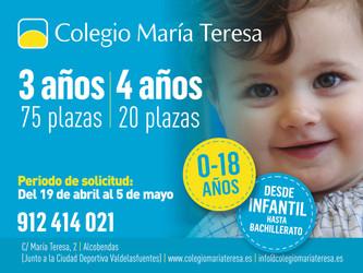 Más plazas para el Colegio María Teresa