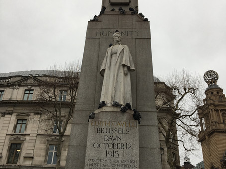The Edith Cavell Memorial. Remembering a selfless patriot.