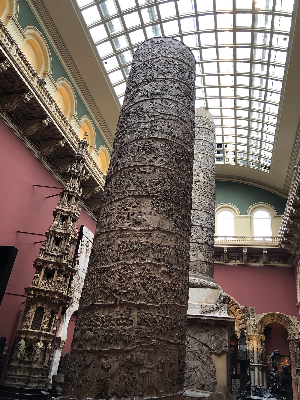 Trajan's Column in the Cast Courts.
