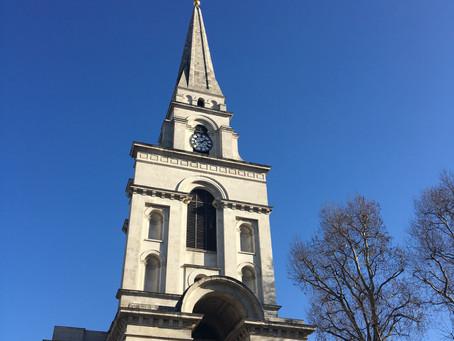 Christ Church, Spitalfields. Nicholas Hawksmoor's baroque masterpiece.