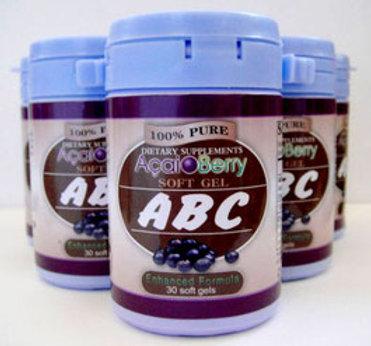 Abc Acai Berry Soft Gel Weight Loss Diet Pills Formula