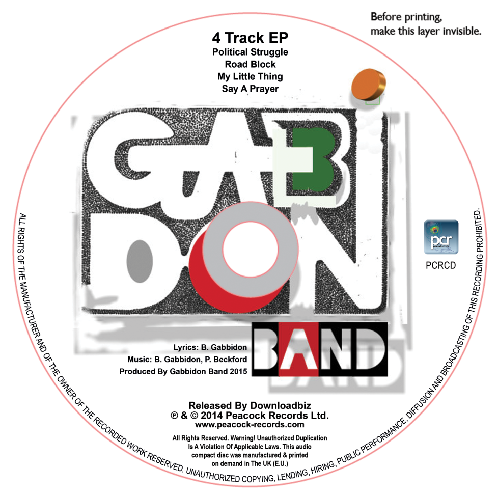 DISC LABEL GABBIDON BAND