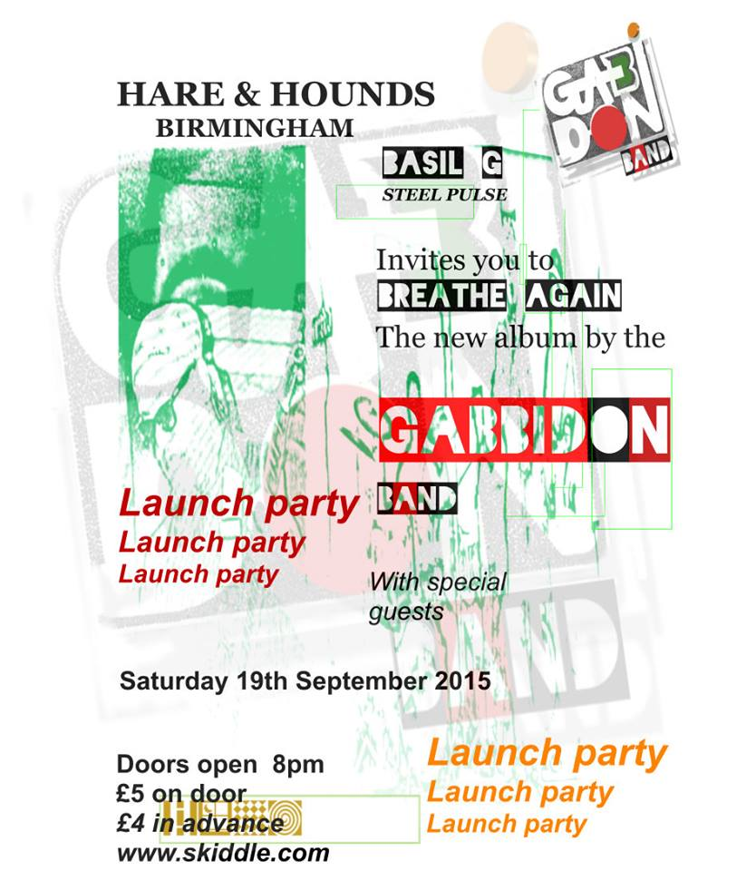 BASIL GABBIDON ALBUM LAUNCH POSTER