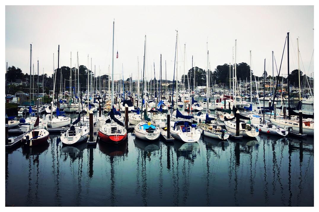California boat dock