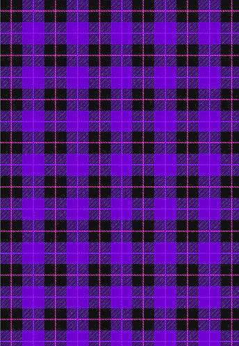 Purple Plaid Flat Wrap