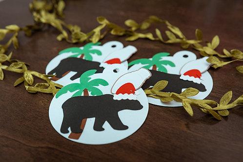 Santa Bear Gift Tags