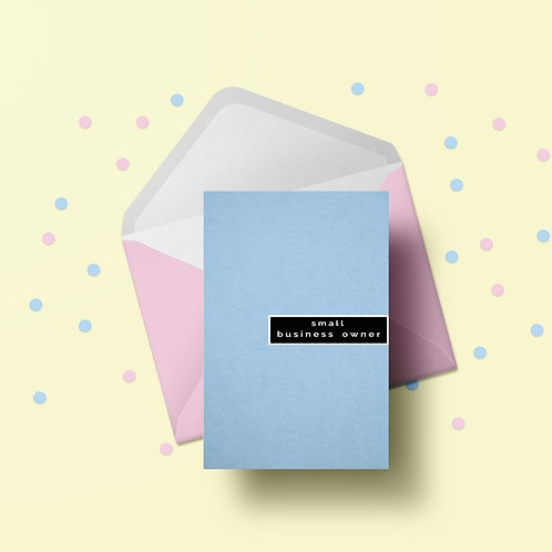Small Business Owner Notecards