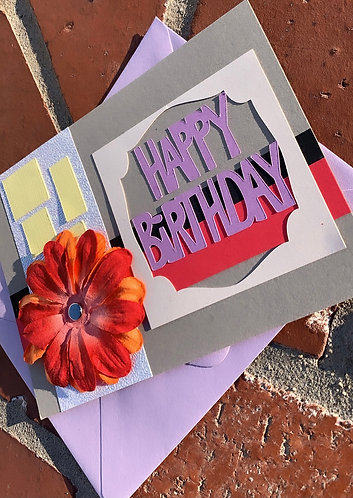 Happy Birthday Simple Floral Card