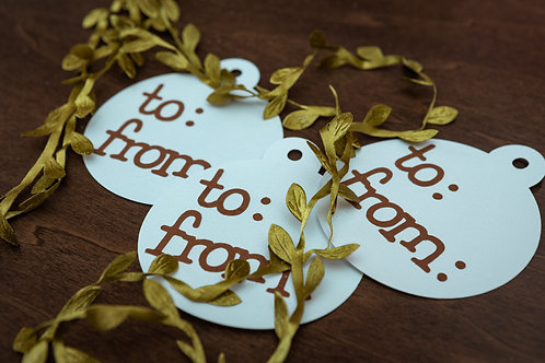 To and From Gift Tags