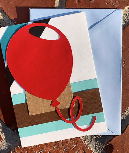 Jumbo Red Balloon Celebration Card