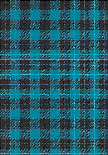 Blue Plaid Flat Wrap