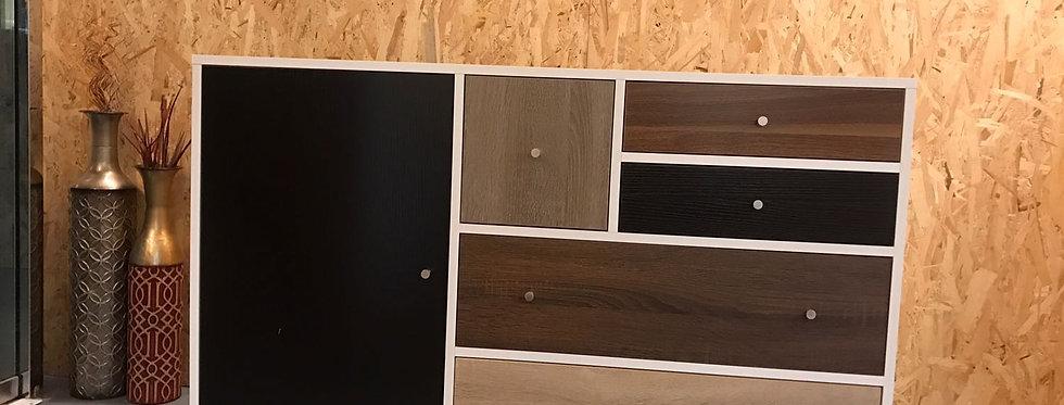 自然木色什物櫃#N177-1028