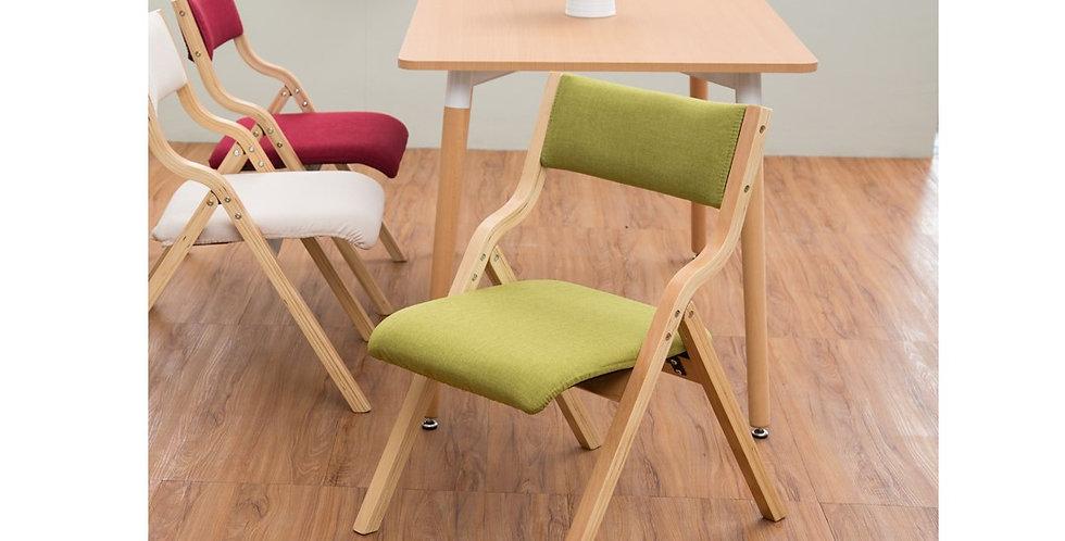 簡約可拆洗實木摺疊餐椅 F207-1074