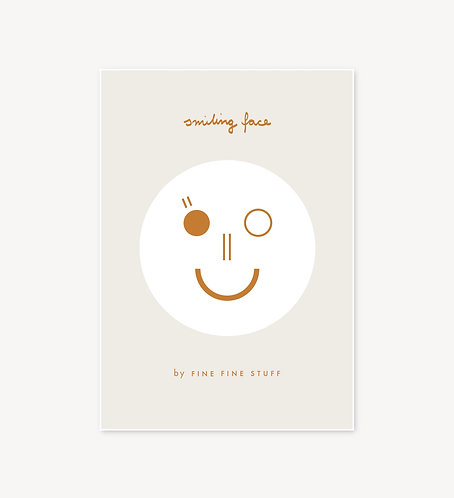 Smiling Face - ochre
