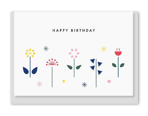 Folding Card / Grußkarte - Happy Birthday