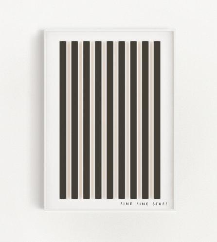 Vertical Stripes - black/rose