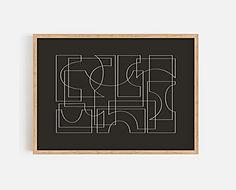 Lines forming Shapes_black_wooden frame.