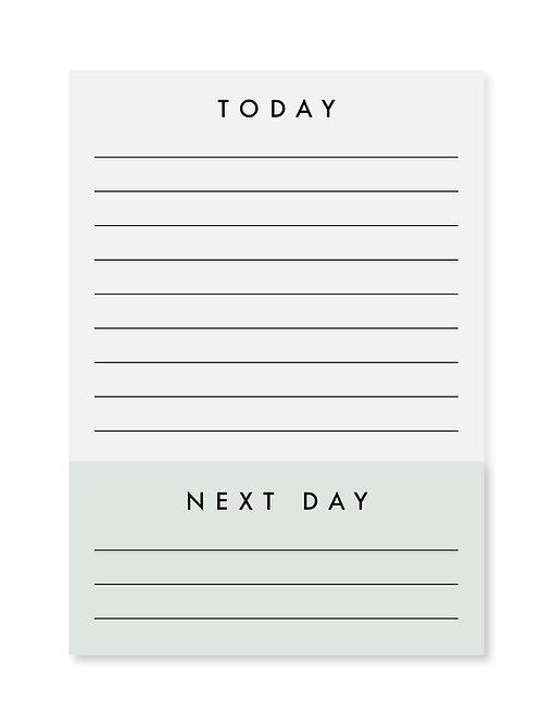Notepad / Notizblock - Today - Next Day