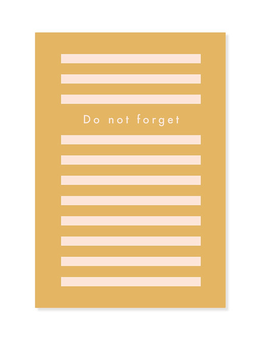 Notebook / Notizheft - DO NOT FORGET