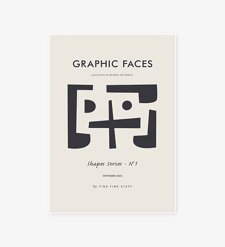 Graphic Faces - Shapes Series
