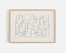 Lines forming Shapes_beige_wooden frame.