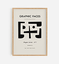 Graphic Faces_Shapes Series_1_wooden fra