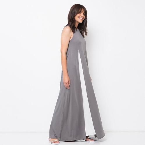 TERESAS  שמלת מקסי אפורה