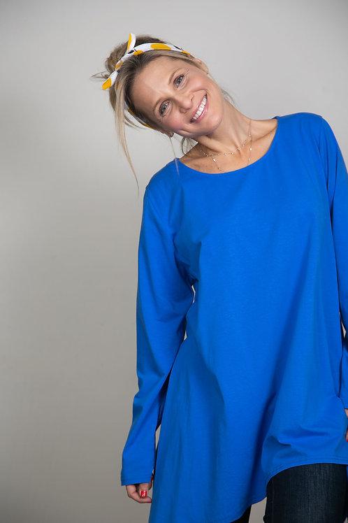 ELIZABET חולצת אוברסייז כחול