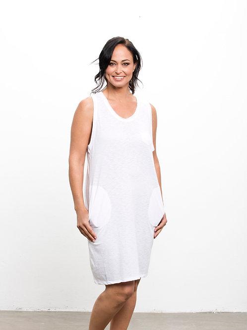 SHE שמלת גופיה לבנה