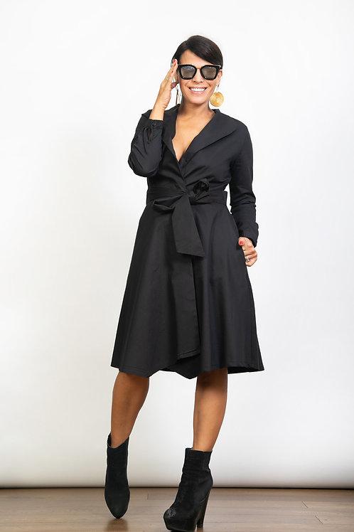 DEMMY שמלה ג'קט שחור