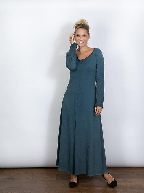 IMAGE  שמלה כחול גינס מקסי