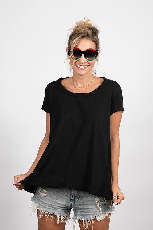 חולצה שחורה SALFIR / משקף עגול