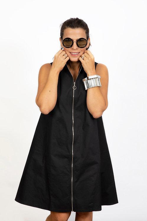 FELIPA  שמלה/ג׳קט ריצרצ שחור