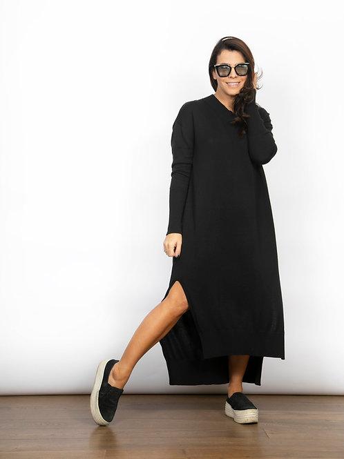 BLINK שמלת סריג שחורה