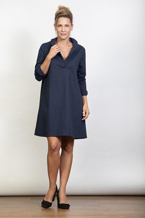 DVIRA שמלה כחולה כפתורים